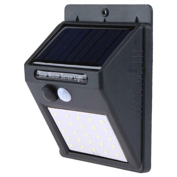 Luminária Refletor Solar Parede 25 Led Sensor Movimento