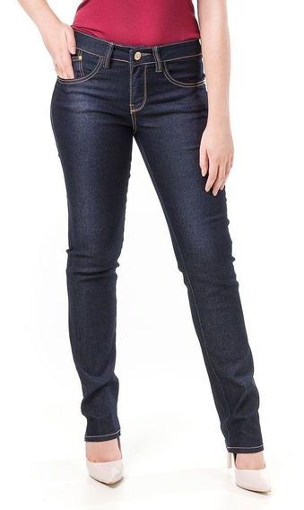 Calça Jeans Feminina Skinny Azul Marinho