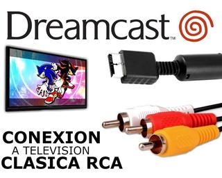 Cable Conexion A Tv Sega Dreamcast Ficha Metalica