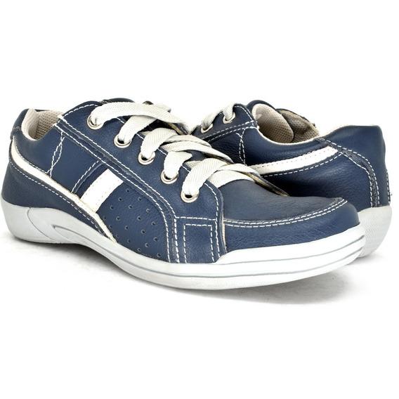 Sapatenis Infantil Masculino Calçado Sapato Tenis Em Couro