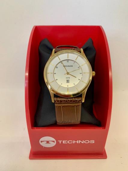 Relógio Technos Social Puls Couro 5 Atm/original*****