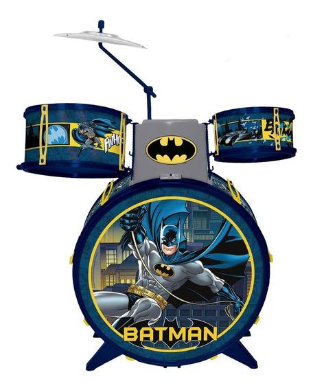Bateria Infantil Fun Batman Cavaleiro Das Trevas + Banquinho