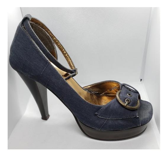 Zapatos Sao Paulo Price Shoes Mezclilla Talla #23mx Usados