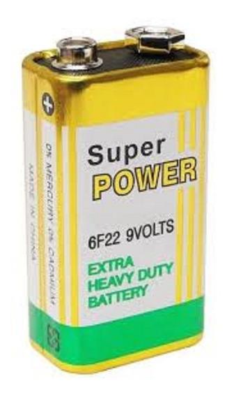 Kit 1 Bateria 9 Volts + 1 Par Cabo De Voltimetro Original