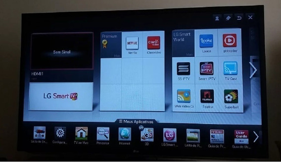 Tv Lg 55lm6200 Led 3d Smart Semi Nova+brinde Leia Descrição.
