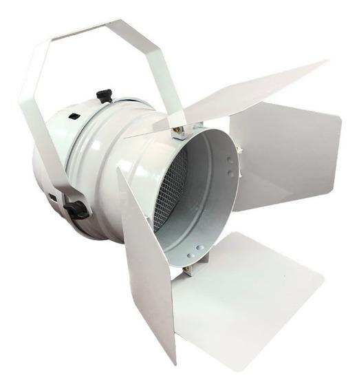 Canhão Refletor Branco Par 56 Spot Grande Com Barndoor - E27