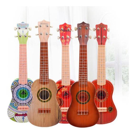 Hermosa Guitarra 4 Cuerdas Musical Para Niños