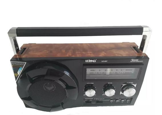Rádio Fm Caixa De Som Retro Bluetooth Mp3 P2 Lanterna Bivolt