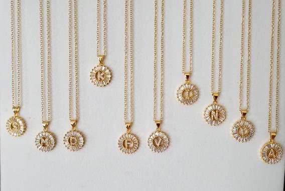 Iniciales Joyería Chapa De Oro Acero Cadena Joyas Pulseras