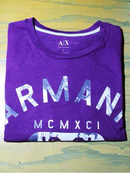 Remera Armani Exchange Talle L 100 % Pima Algodón
