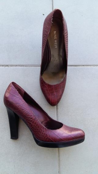 Zapatos Mujer Stilettos Borgoña Nine West 38 39