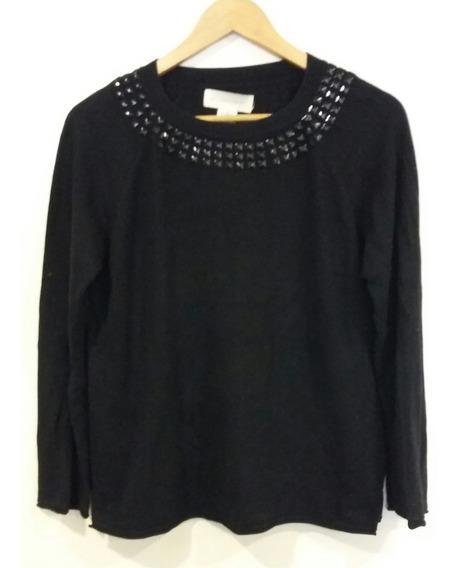 Suéter Negro Con Tachas Paula Talle 3