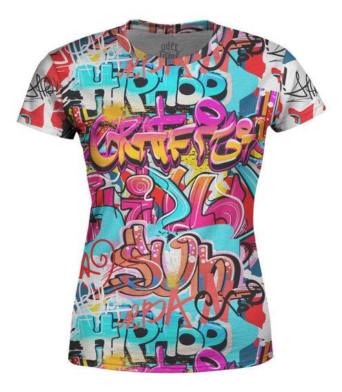 Camiseta Baby Look Feminina Grafite Hip Hop Grafiti