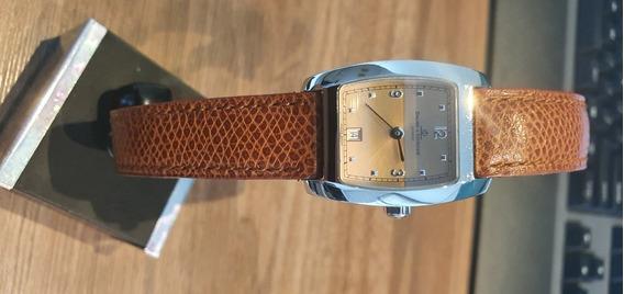 Relógio Suíço Baume Et Mercier Hampton De Couro Feminino