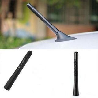 Antena Universal Metalica Carbono Auto + Adaptadores Karvas