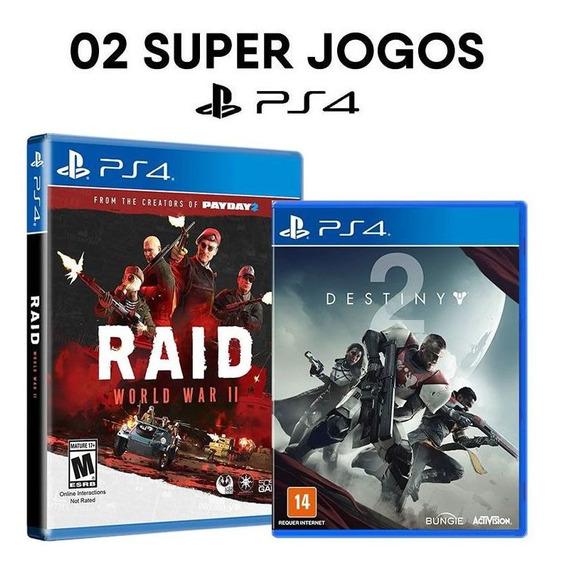 Raid World War Ii + Destiny 2 Day One - Ps4 - Mídias Físicas