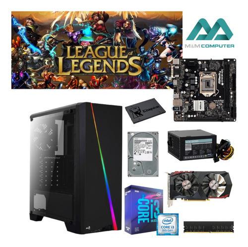 Pc Gamer Intel I3-9350kf 8gb Ram Hd E Ssd Gtx 750ti Led Moba