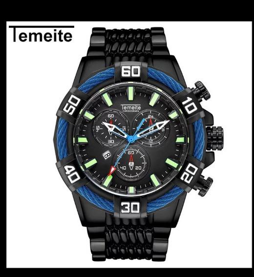 Relógio Temeite Masculino Luxo.