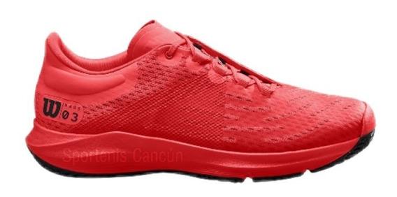 Tenis Wilson Wilson Kaos 3.0 Rojo Tennis Alto Rendimiento