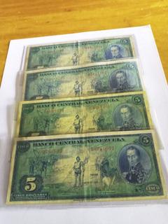 Billetes 5 Bolívares Serial-letras Dieguitos