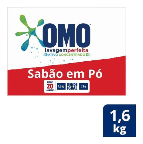 Lava-roupas Em Pó Omo Lavagem Perfeita Caixa 1,6kg