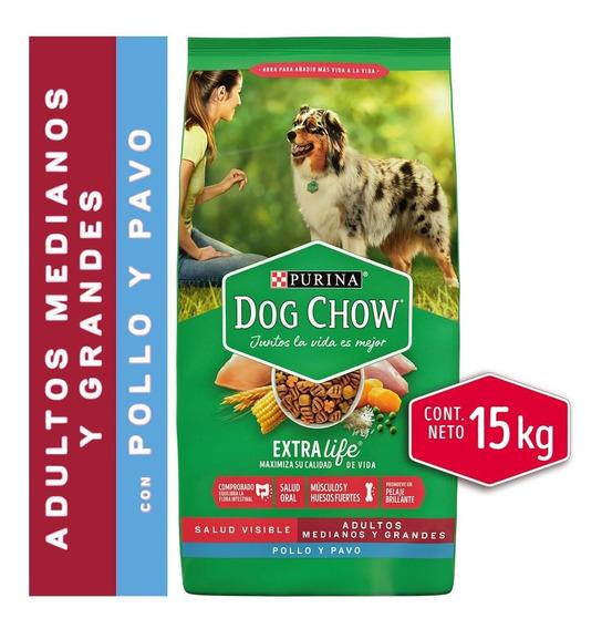 Dog Chow® Adultos Medianos Y Grandes Pollo Y Pavo 15kg