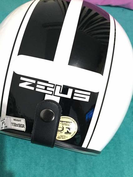 Capacete Zeus Retrô Usado Uma Vez