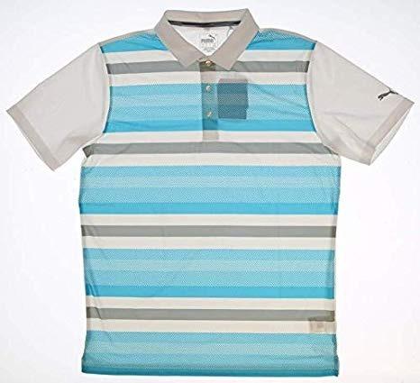 Camiseta Puma Polo Strps Blue Hombre M Fps45 Original Import