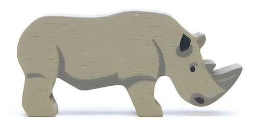 Imagen 1 de 3 de Juguete Animales De La Selva En Madera Rinoceronte P/ Niños
