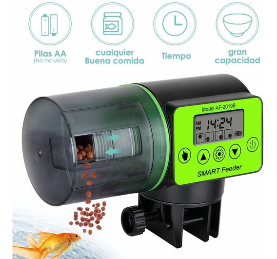 Alimentador Automático De Peces, 200ml Alimentador Eléctri