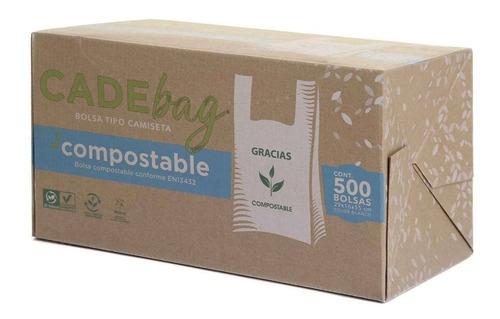 Imagen 1 de 4 de Bolsa De Plástico Biodegradable Cade Bag Tipo Camiseta 500 Pzas Msi