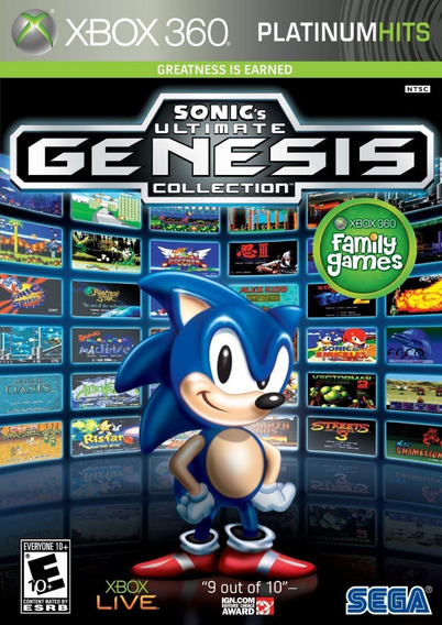 Sonic Ultimate Genesis Collection - Xbox 360 Mídia Física