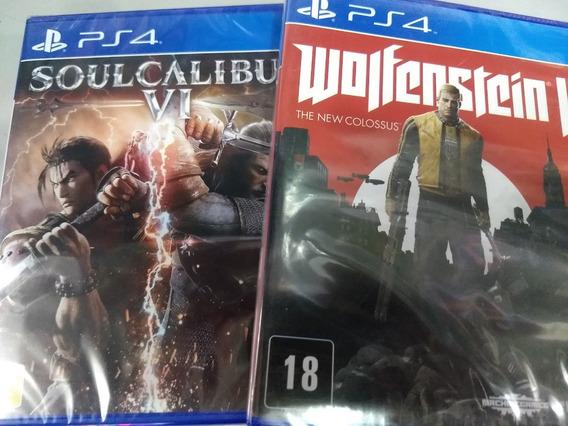 Soul Calibur 6 Ps4 +wolfenstein 2 Ps4 Mídia Física