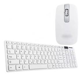 Kit Teclado Wireless 2.4ghz + Mouse Sem Fio Óptico P/entrega