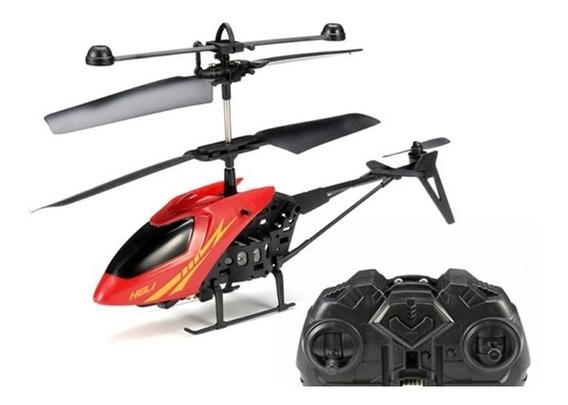 Helicoptero Controle Remoto 2 Canais Vermelho Recarregavel