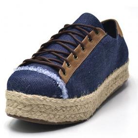 Tênis Casual Feminino Sapatenis Flat Form Jeans Conforto