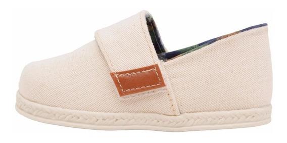 Sapato Infantil Masculino Alpargatas Bege Pimpolho
