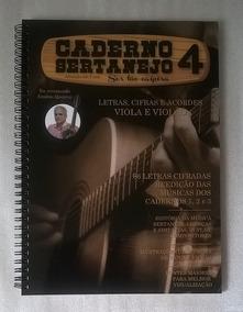 Caderno Sertanejo Vol 4 Músicas Cifradas Para Viola E Violão