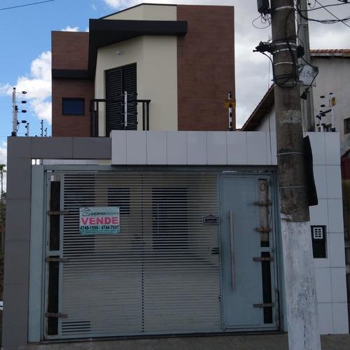 Lindo Sobrado Residencial Em Suzano-sp, Com 3 Dormitórios