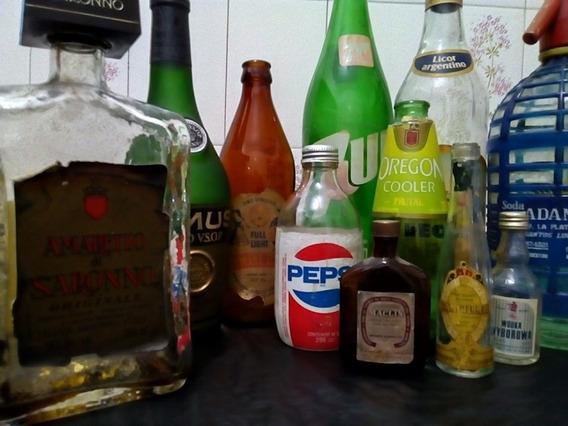 Botellitas, Botellas Y Sifón De Los 80 Y 70 Lote Único