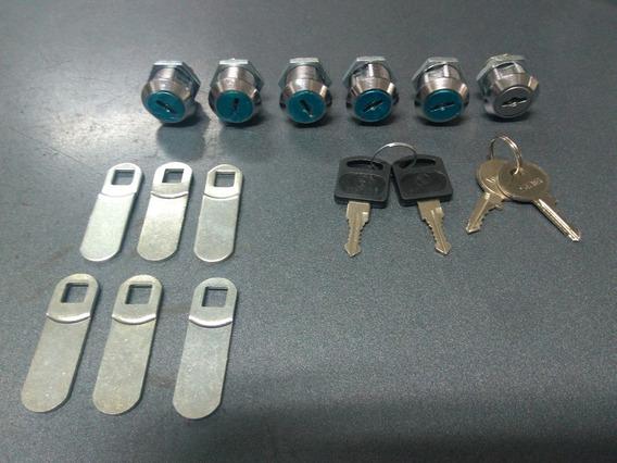 6 Fechaduras Para Armario Aço Com 4 Chaves