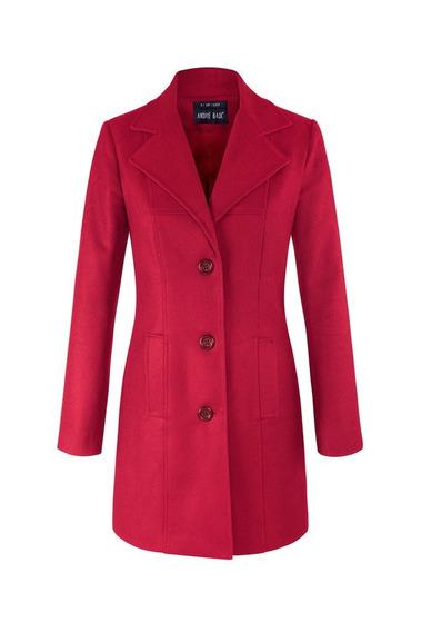 Abrigo Andre Badi Mujer Dama Rojo Negro Perla Modelo 0007