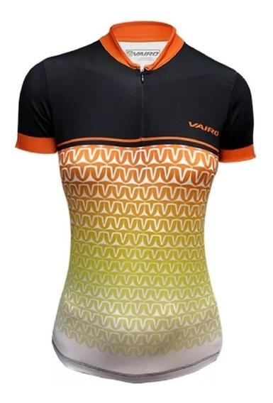 Remera/jersey M/corta Ciclismo Mujer Vairo Blur
