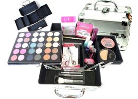 Maleta Kit Maquiagem Completo Profissional Rubys Com Pinceis