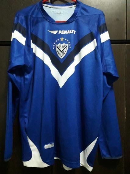 Camiseta De Vélez Sarsfield Azul Manga Larga Año 2008