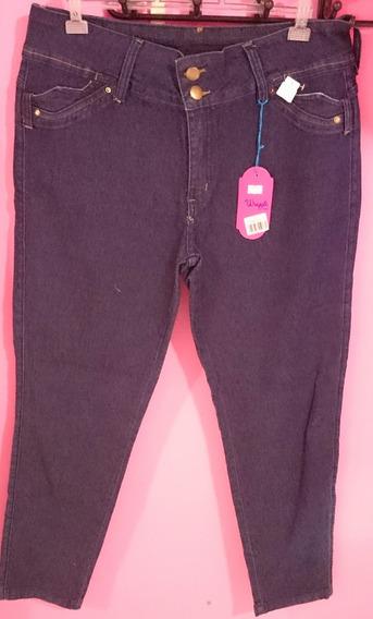 Calça Jeans Feminina Tamanho 48 Com Lycra