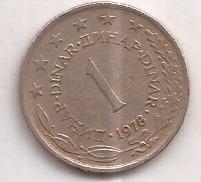Yugoslavia Moneda De 1 Dinar Año 1978 Excelente !