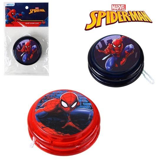 Ioio (yoyo) C/luz De Plastico Homem Aranha/spider Man Top!