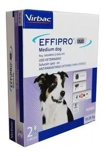 Effipro Duo 2 Pipetas P/perro Pulgas/garrapatas 14 Semanas