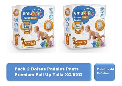 Pack 44u Pañales Pants Premium Pull Up Talla Xg/xxg Emubaby